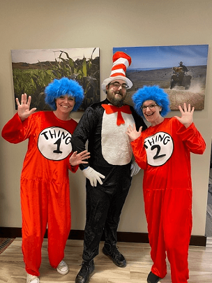 Dr. Suess Day with area 2nd Graders